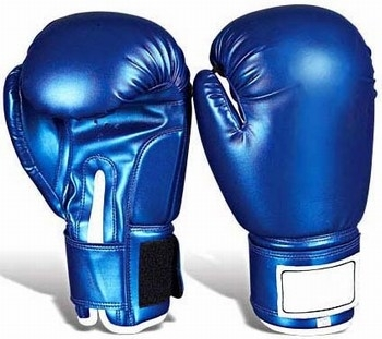 Boxing Gloves in Artificial Leather DX Shine Pre-formed Molded,Having Softness 2 Inches Velcro Strap