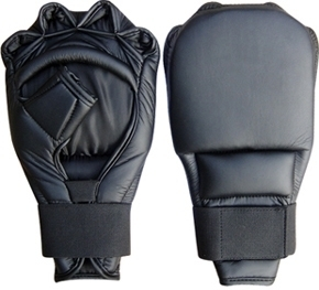 Half Finger Grappling Gloves Made of Cowhide Leather