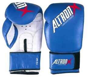 Blue and white  Boxing gloves made of Artificial Leather/ Genuine Leather Boxing Gloves
